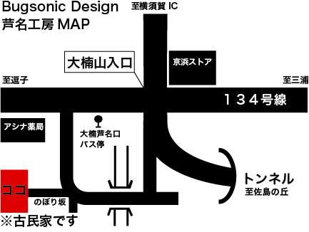 バグソニックデザイン Design&Custom paint BugsonicDesign 地図